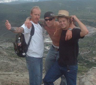 JJ Romans, Jason Rowe, and Steve Wagner atop a mountain near Guadalahara, Mexico.